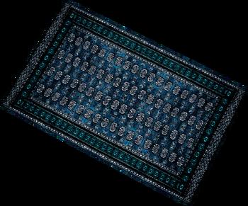 Auto-loomed-blue-rug