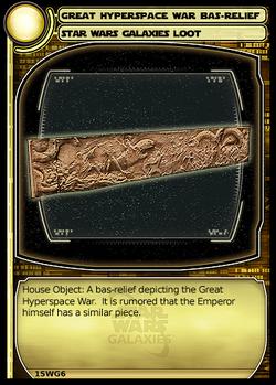 Great hyperspace war bas relief