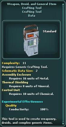 WeaponDroidAndGeneralItemCraftingTool