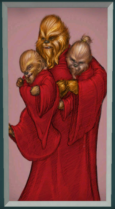 Life Day Painting (Wookiee with pups)
