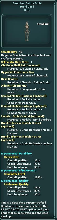 Deed for: Battle Droid   SWG Wiki   FANDOM powered by Wikia