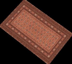 Auto-loomed-orange-rug