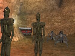 Inside the droid cave