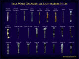 Gallery of lightsabers