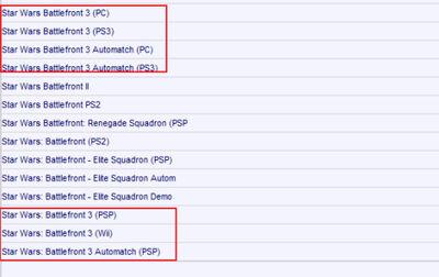 Battlefront3 server listing