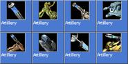 Artillery icons