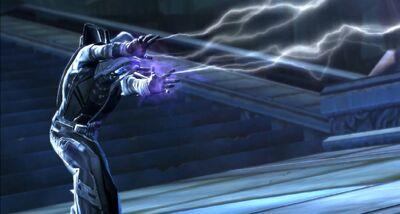 L'Empereur Sith utilisant les éclairs de choc 1.1