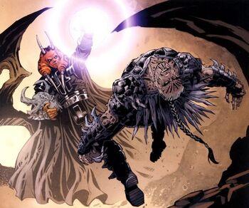 Corps de Dark Krayt emporté par Dark Wyyrlok III