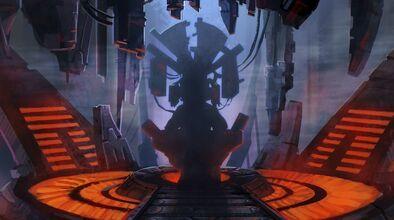L'Empereur Sith sur son trône