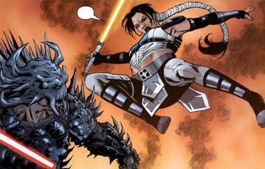 Dark Krayt attaqué par Celeste Morne