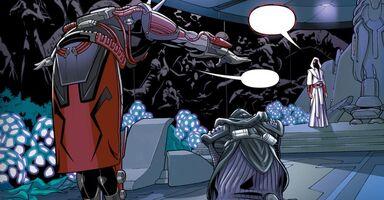 L'Empereur Sith rencontrant Teneb Kel