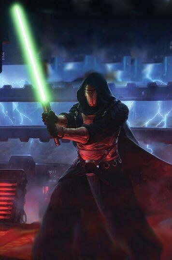 Revan face à l'Empereur Sith