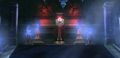 Chambre du trône de l'Empereur Sith