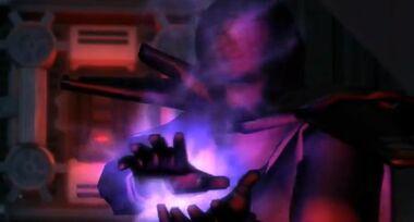 L'Empereur Sith déclenchant une tempête de force