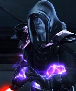 L'Empereur Sith activant son sabre laser
