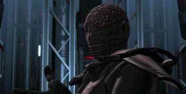 L'Empereur Sith face à l'équipe de jedi envoyée contre lui