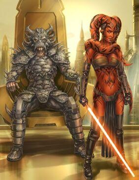 L'Empereur sith Dark Krayt avec Dark Talon