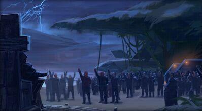 Proclamation de l'Empire Sith par l'Empereur Sith
