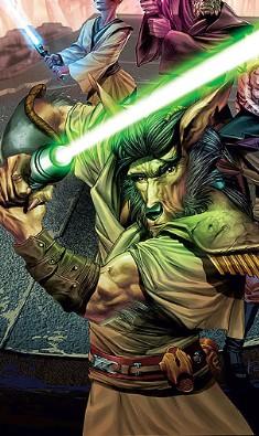 Chevalier Jedi dans le Temple Caché