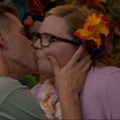 Travis and Mary Beth kiss