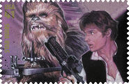 Stamp Han Chewbacca