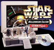 99180 a Millennium Falcon CD Rom Playset Stock Image