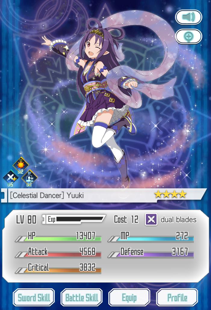 Image - Celestial Dancer Yuuki.png | Sword Art Online: Memory ...