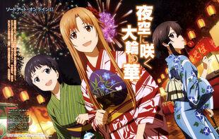 E-shuushuu.net 2014-10-02-677215 - Sword Art Online ~ Asada Shino, Kirigaya Suguha, Yuuki Asuna