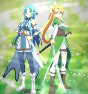 Chan.sankakucomplex.com - 4197108 - a-1 pictures aqua eyes aqua hair asuna (sao) blonde boots elf green eyes high resolution leafa