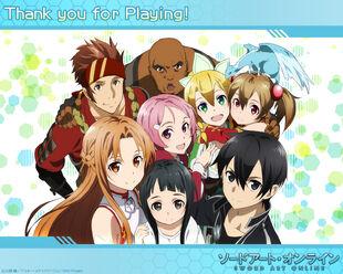 E-shuushuu.net 2013-08-20-600764 - Sword Art Online ~ Egil, Kirito, Klein, Leafa, Lizbeth, Pina, Silica, Yui, Yuuki Asuna