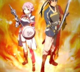 Chan.sankakucomplex.com - 4197129 - a-1 pictures boots fire high resolution klein (sao) lisbeth pink eyes pink hair screen capture shield