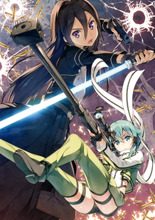 Yande.re 294740 gun gun gale online kantoku kirito sinon sword sword art online thighhighs