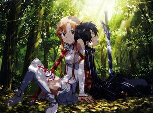 E-shuushuu.net 2014-12-12-693392 - Sword Art Online ~ Kirigaya Kazuto, Yuuki Asuna