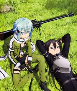 E-shuushuu.net 2014-09-06-671441 - Sword Art Online ~ Kirito, Sinon
