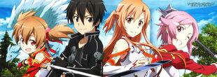 E-shuushuu.net 2013-04-07-570565 - Sword Art Online ~ Kirito, Lizbeth, Pina, Silica, Yuuki Asuna