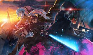 Yande.re 298393 bandages death gun gun gun gale online kirito sinon studio s.d.t. sword sword art online yuuki tatsuya