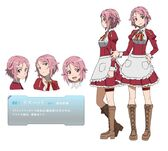 Sword art online - Shinozaki Rika Female Solo Character Sheet Official Art Official Character Inform...