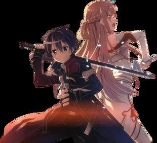 Kirito and asuna 1 sword art online by zerolshikumai-d5dyzvk