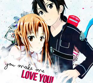 Kirito and asuna you make me love you by xsakuraharuno-d5je1m6