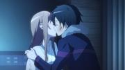 Pocałunek Kirito i Asuny