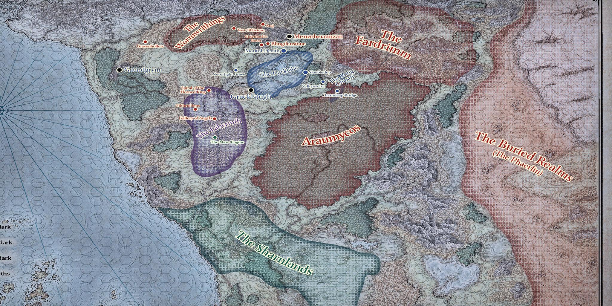 Sword Coast Map 5e 5148 | LINEBLOG