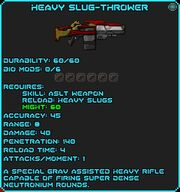 Heavy Slug-Thrower info