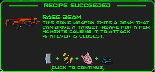 Rage beam-recipe