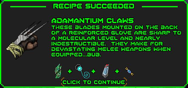 Adamantium claws-recipe