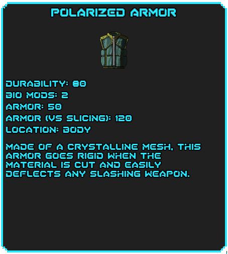 Polarized Armor tag