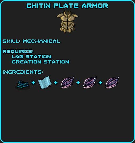 Chitin Plate Armor recipe
