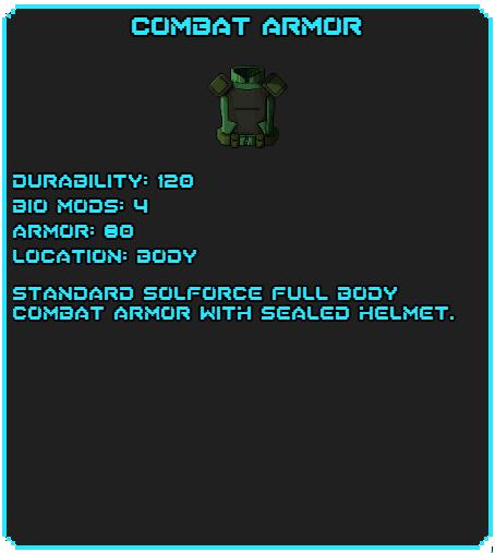 Combat Armor tag
