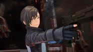 Itsuki telling that he is also wearing NerveGear in Fatal Bullet