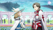 Nautilus and Yuna chatting in Floria during Eiji's flashback in OS