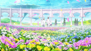 Nautilus and Yuna among the flowers of Floria - OS